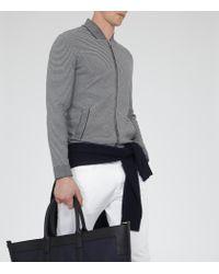 Reiss - Gray Serona Jacquard Knitted Jacket for Men - Lyst