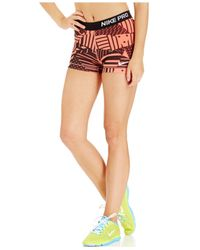 Nike | Red Pro Patch Work Printed Dri-fit Shorts | Lyst