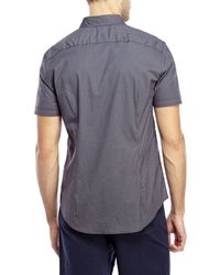 John Varvatos - Blue Luxe Gingham Shirt for Men - Lyst
