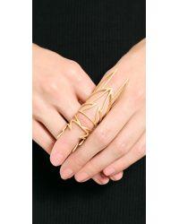 Eddie Borgo - Metallic Hinged Wing Ring Matte Gold - Lyst