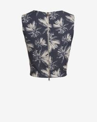 L'Agence - Multicolor Exclusive Palm Print Crop Top - Lyst