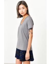 BDG - Gray Perfect V-neck Tee - Lyst