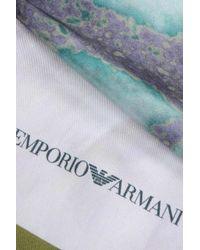 Emporio Armani - Green Silk Stole - Lyst