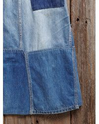 Free People - Blue Vintage Ranch Craft Denim Skirt - Lyst