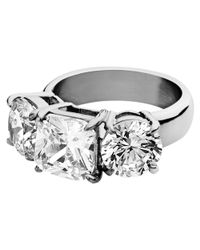 Dyrberg/Kern | Metallic Dyrberg/Kern Charis Triple Swarovski Crystal Ring | Lyst