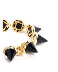 Eddie Borgo - Metallic Faceted Gemstone Cone Bracelet - Lyst