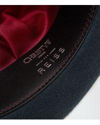 Reiss | Blue Epsom Christys Felt Trilby Hat for Men | Lyst