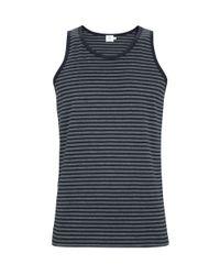 Sunspel - Black Men's Superfine Cotton English Stripe Vest for Men - Lyst