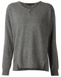 Alexander Wang - Gray Keyhole Sweater - Lyst