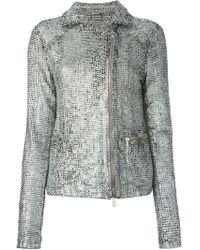 Giorgio Brato - Metallic Perforated Jacket - Lyst