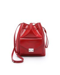 Loeffler Randall | Red Lock Drawstring Bucket Bag | Lyst