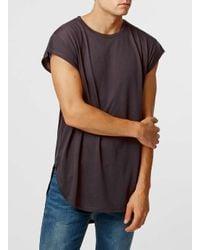TOPMAN | Red Burgundy Cap Sleeve T-shirt for Men | Lyst