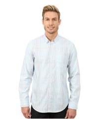 Calvin Klein | Blue Broken Shadow Plaid Woven Shirt for Men | Lyst