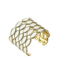 House of Harlow 1960 | Metallic Del Sol Leather Cuff Bracelet | Lyst