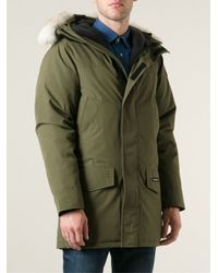 lyst canada goose langford parka in green for men rh lyst com  canada goose langford parka herren military green