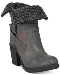 Report - Gray Yurick Foldover Faux-fur Shearling Boots - Lyst