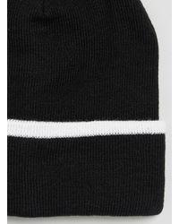 TOPMAN - Black White Stripe Beanie for Men - Lyst