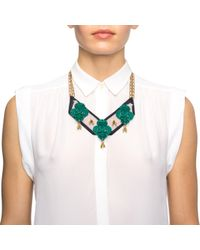 Lulu Frost - Green Katharine Bib Necklace - Lyst