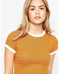 ASOS | Metallic Limited Edition 70's Geo Shield Necklace | Lyst