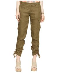 Lauren by Ralph Lauren | Green Linen-blend Cargo Pants | Lyst