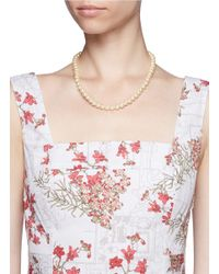 Miriam Haskell - Metallic Gold Ornament Pearl Necklace - Lyst