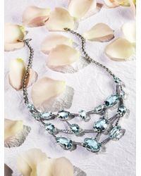 Alexis Bittar Fine | Metallic Sky Marquis Blue Quartz, Multicolor Sapphire & Sterling Silver Bib Necklace | Lyst