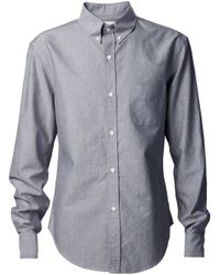 Band of Outsiders | Gray Button Down Shirt for Men | Lyst