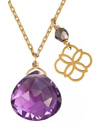 Perle De Lune Chez Carré Y. | Purple Drop Daisy Pendant | Lyst
