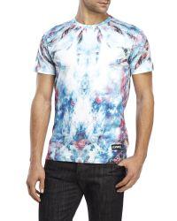 ELEVEN PARIS - Blue Ocean Palm Print T-shirt for Men - Lyst