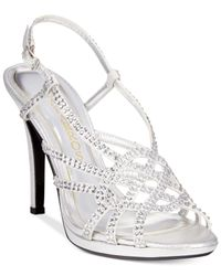 Caparros | Metallic Vegas Platform Evening Sandals | Lyst