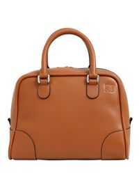 Loewe | Brown Small Amazona 75 Grained Leather Bag | Lyst