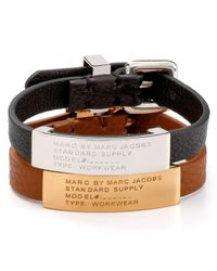 Marc By Marc Jacobs | Black Standard Supply Id Bracelet | Lyst