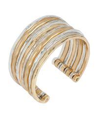 Robert Lee Morris | Metallic Two-tone Textured Cuff Bracelet | Lyst