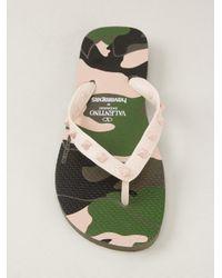 Havaianas - Green Rockstud Camouflage Flip Flop - Lyst
