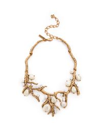 Oscar de la Renta | Metallic Coral Necklace | Lyst