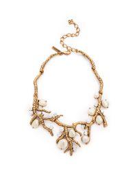 Oscar de la Renta - Metallic Coral Necklace - Lyst
