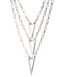ASOS - Metallic Multi Chain Necklace for Men - Lyst