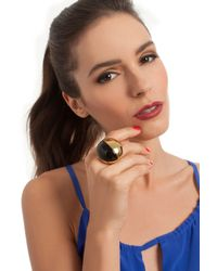 Trina Turk - Black Resin Statement Ring - Lyst
