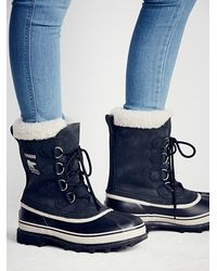 Free People - Black Caribou Weather Boot - Lyst