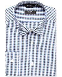 Paul Smith - Blue Byard Gingham-print Cotton Shirt for Men - Lyst