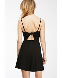 Forever 21 - Black Cutout Bow A-line Dress - Lyst