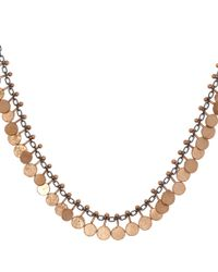 Sia Taylor - Metallic Oxisidised Silver and Rose Gold Tiny Dot Necklace - Lyst