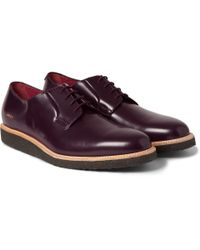 Common Projects - Red Crepe-Sole Leather Derby Shoes for Men - Lyst