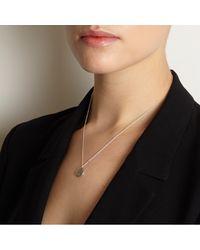 Myia Bonner - Metallic Silver F Facett Initial Necklace - Lyst
