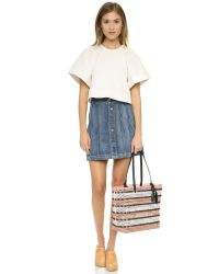 Loeffler Randall - Natural Perforated Beach Tote - Lyst