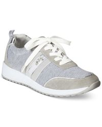 Anne Klein | Gray Qualified Sneakers | Lyst