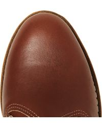 Red Wing | Brown Work Chukka Rubbersoled Leather Boots for Men | Lyst
