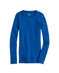J.Crew - Blue Perfect-Fit Long-Sleeve Tee - Lyst