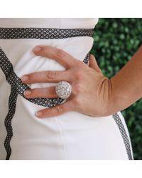 Arunashi - White Diamond Dome Ring - Lyst