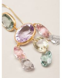 Marie-hélène De Taillac | Metallic 22kt Yellow Gold 'gabrielle' Tourmaline Earrings | Lyst